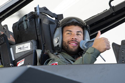 Photo of Speed, Popcorn Draw In NASCAR's Wallace for F-15 Flight