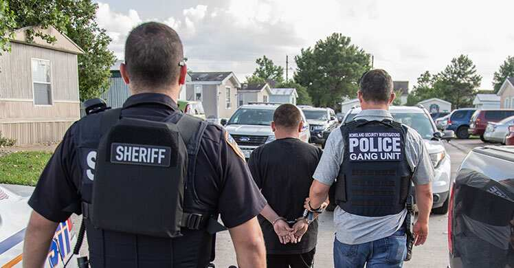 Photo of ICE arrests 23 gang members, associates during Houston operation targeting MS-13