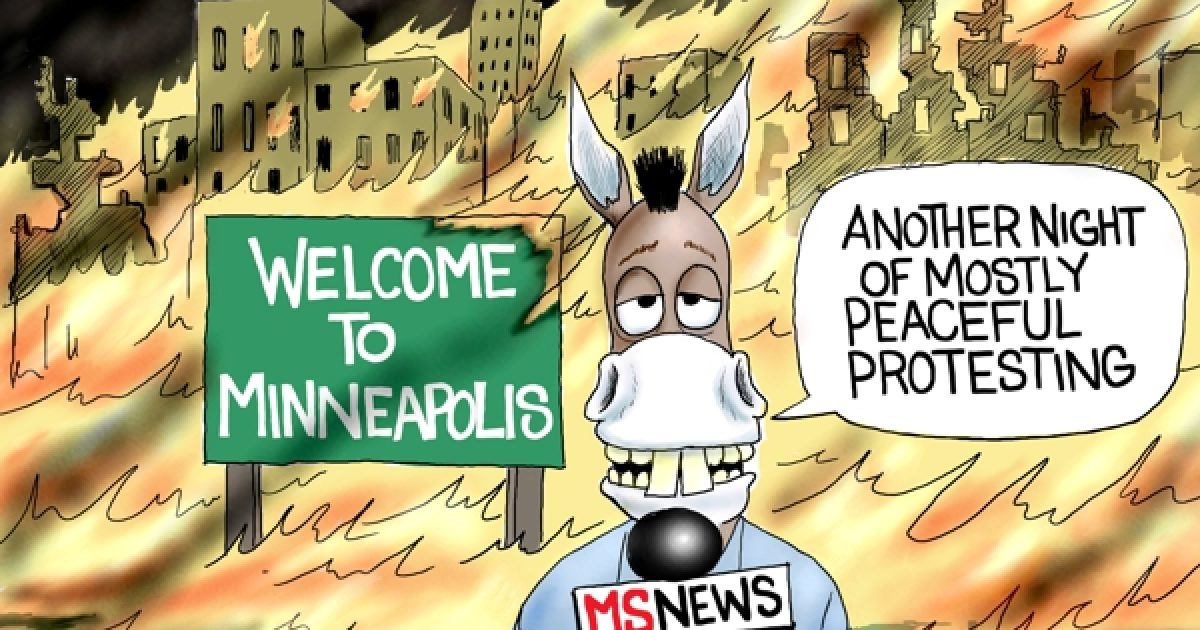 Photo of Mostly Peaceful – A.F. Branco Cartoon