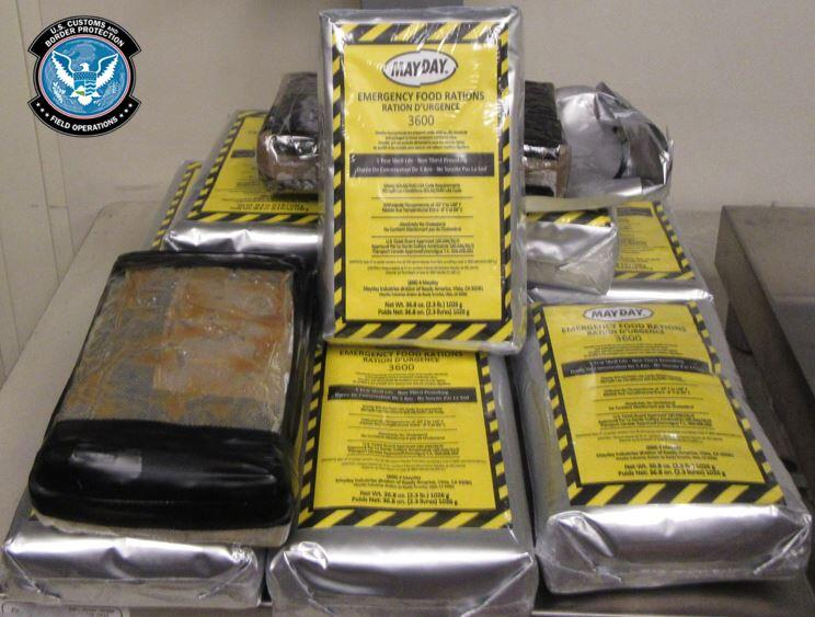 Photo of CBP Officers Find $952K Worth of Cocaine in Emergency Food Pouches