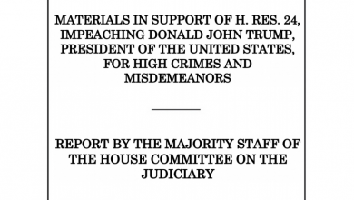 Photo of House Judiciary Report Outlining Democrats Case to Impeach President Trump [Full Text]