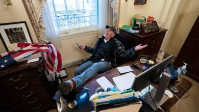 Photo of Man Arrested for Illegally Entering Office of Speaker of the House